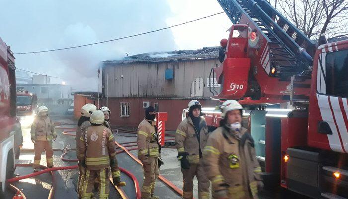 Pendik'te korkutan fabrika yangını