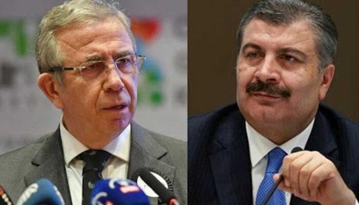Sağlık Bakanı Koca'dan, Ankara Büyükşehir Belediye Başkanı Yavaş'a teşekkür