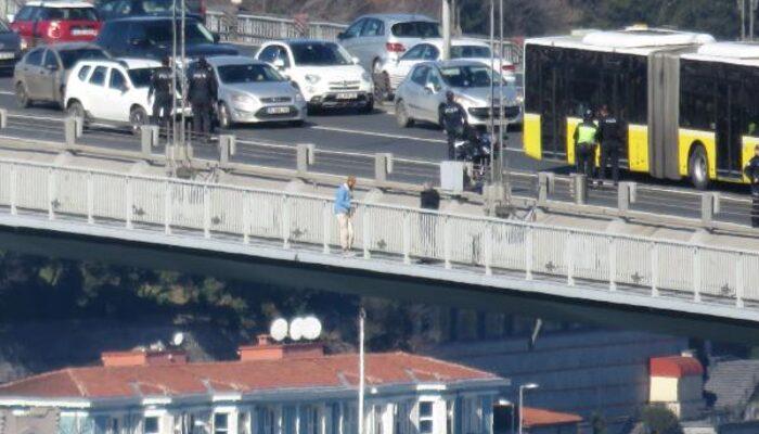 Son dakika: 15 Temmuz Şehitler Köprüsü'nde intihar girişimi!