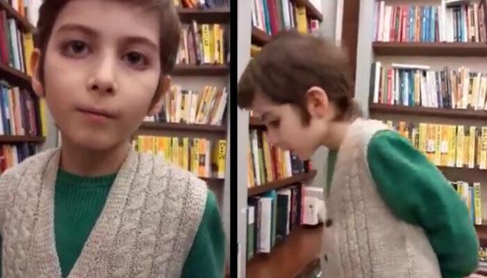 span style=color:unsetSosyal medya 10 yaşındaki kitap kurdu.../span