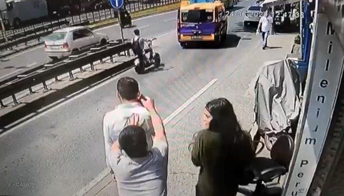 Taksim'de kapkaç dehşeti! Kaldırımda yürürken hayatının şoku yaşadı