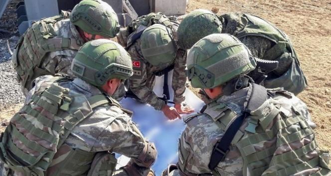 Türk ve Rus askerlerinin beşinci ortak kara devriyesi tamamlandı
