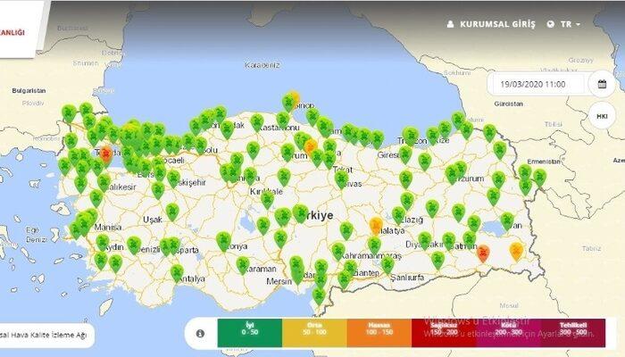 Türkiye sokağa çıkmayınca hava da temizlendi
