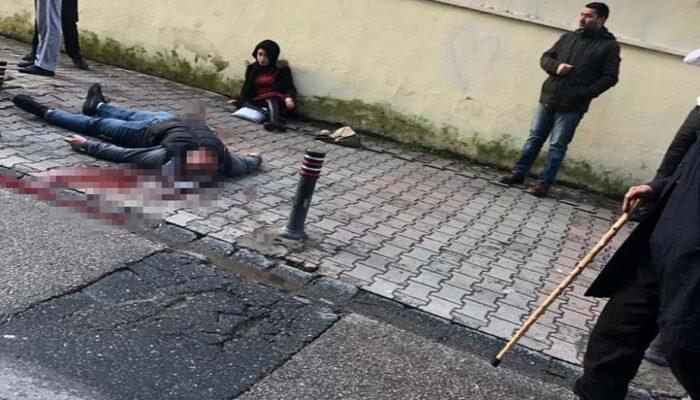 Ümraniye'de sokak ortasında silahlı saldırı