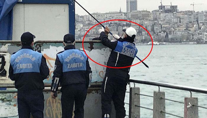 Üsküdar sahilde balık tutmak yasaklanmıştı! Bugün zabıta böyle yakaladı