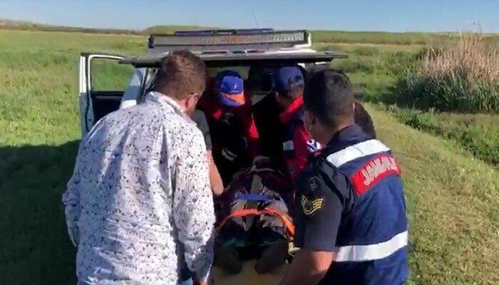 Yaşlı kadın 24 saat sonra bataklıkta baygın halde bulundu