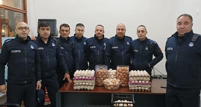 Zabıta ekipleri bu defa köy yumurtalarını denetledi